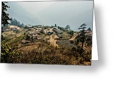 Village In Sikkim Greeting Card
