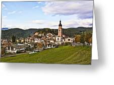 Village In The Dolomites Greeting Card