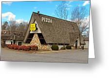 Village Inn Pizza Greeting Card