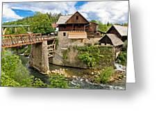 Village Of Rastoke River Canyon Greeting Card