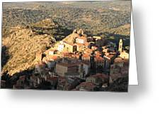 Village Of Speloncatu In Corsica Greeting Card