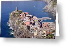 village of Vernazza Greeting Card