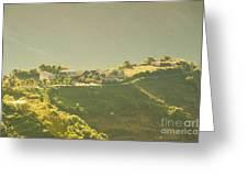 Village On Mountain Greeting Card
