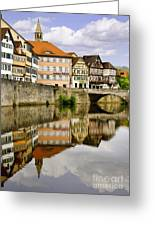 Village Reflection Greeting Card