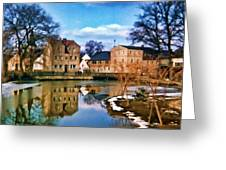 Village Reflections Greeting Card