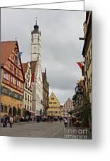Village Scene Rothenburg Ob Der Tauber Greeting Card