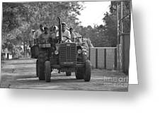 Village Tractor  Greeting Card by Bobby Mandal