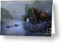 Villages By The Foggy Sea II Greeting Card