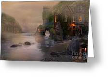 Villages By The Foggy Sea   Greeting Card