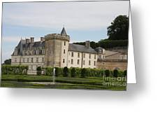 Villandry Chateau And Boxwood Garden Greeting Card