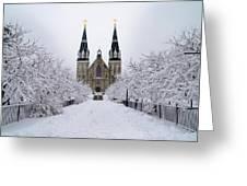 Villanova University In The Snow Greeting Card