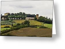 Ville Di Corsano Near Siena - Tuscany Italy Greeting Card by Karen Stephenson