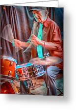 Vince Lateano On Drums Greeting Card