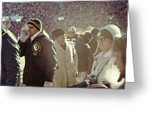 Vince Lombardi On The Sideline Greeting Card by Retro Images Archive
