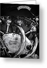 Vincent Series C Black Shadow Engine Greeting Card