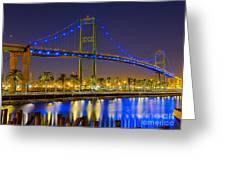 Vincent Thomas Bridge - Nightside Greeting Card