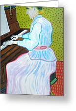 Vincent Van Gogh's Marguerite Gachet Playing At The Piano Greeting Card