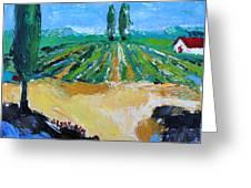 Vineyard 3 Greeting Card by Becky Kim