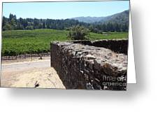 Vineyard And Winery Ruins At Historic Jack London Ranch In Glen Ellen Sonoma California 5d24537 Greeting Card