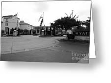 Vineyard Creek Hyatt Hotel Santa Rosa California 5d25789 Bw Greeting Card
