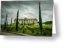Vineyards And Chateau Greeting Card by Fabio Giannini