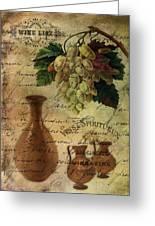 Vins Spiritueux Nectar Of The Gods Greeting Card