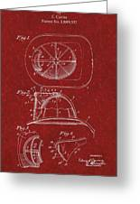 Vintage 1932 Firemans Helmet Patent Greeting Card