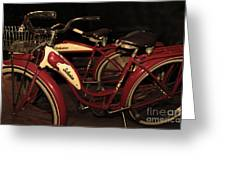Vintage 1941 Boys And 1946 Girls Bicycle 5d25760 Sepia2 Greeting Card