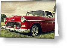 Vintage 1955 Chevy Nomad Greeting Card