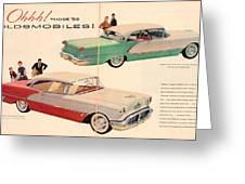 Vintage 1956 Oldsmobile Car Advert Greeting Card
