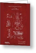 Vintage 1961 Fender Guitar Patent Greeting Card