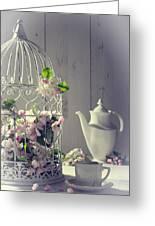 Vintage Afternoon Tea Greeting Card