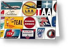 Vintage Airlines Logos Greeting Card