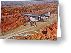 Vintage Airplane Postcard Art Prints Greeting Card
