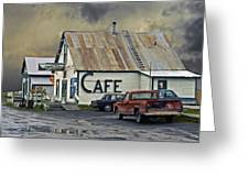 Vintage Alaska Cafe Greeting Card