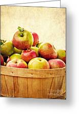 Vintage Apple Basket Greeting Card