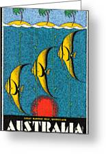 Vintage Australia Travel Poster Greeting Card
