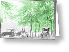 Vintage Autobmobiles Greeting Card