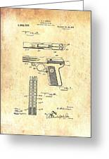 Vintage Automatic Pistol Patent Greeting Card
