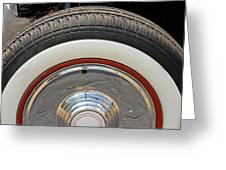Vintage Automobile Tire Greeting Card