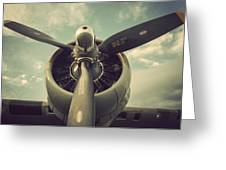 Vintage B-17 Flying Fortress Propeller Greeting Card