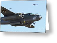 Vintage B-25 Mitchell Bomber Greeting Card