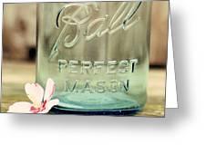 Vintage Ball Perfect Mason Greeting Card