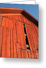 Vintage Barn Aglow Greeting Card