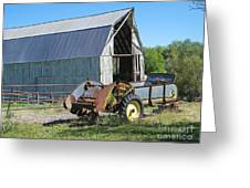 Vintage Barn And Equipment Greeting Card