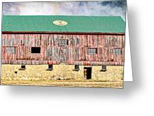 Vintage Barn - Wood And Stone Greeting Card