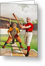Vintage Baseball Print Greeting Card