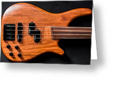 Vintage Bass Guitar Body Greeting Card