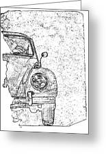 Vintage Beetle Greeting Card