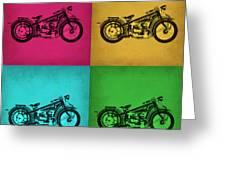 Vintage Bike Pop Art 1 Greeting Card